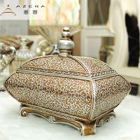 礼品挂件雅尊欧式家居创意时尚摆件复古珠宝首饰盒储物盒装修创意