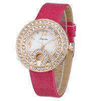 韩版新款女士手表时尚镶钻闪亮皮带石英学生表外贸爆款女款腕表