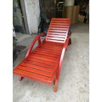 广州品木供应户外防腐木沙滩椅躺床实木室外躺椅