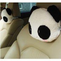 单个价 熊猫头枕 240g 卡通护颈枕 可爱车用头枕头靠枕 车枕