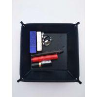 现货供应生产销售PU皮革杂物盘 桌面收纳杂物盘 杂物盒