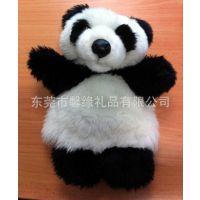 厂家直销 毛绒手偶动物造型毛绒玩具 熊猫毛绒公仔