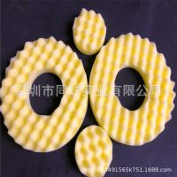黄色甜甜圈空心单面波浪绵成型 厨房去污洁净海绵盘 可定做