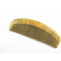 厂家天然正品绿檀木梳整木檀木美发养发礼品檀木梳子按摩梳16.5cm