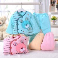 清仓批发 汤博士新款儿童棉袄 小兔子棉衣两件套 新生婴儿外出服