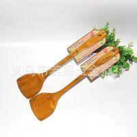 地摊货竹木铲子不粘锅专用木勺木锅铲 炒菜竹木材质锅铲厨具长柄