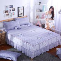 一米八乘两米床单床套.m..m床双人夏天床罩床裙三件套防尘