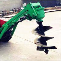 立杆挖坑机电线杆打洞机厂家 拖拉机牵引式挖洞机挖树坑机子