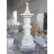 古建塔楼晚霞红雕刻石雕工艺品 寺庙石塔石雕价格