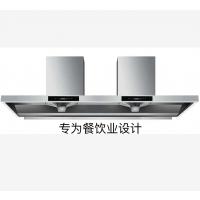 广东布劳恩1.2米1.5米1.8米2.0米中岛悬吊靠墙柴火灶餐饮土灶抽油烟机厂家直销