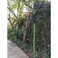 竹子庭院灯厂家丶熊猫灯杆造型报价