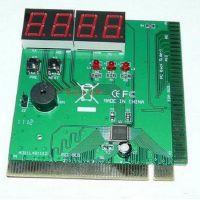 电脑四位PCI主板诊断卡 4位主板故障检测卡配中文说明书