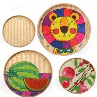 儿童绘画手工竹编 幼儿园DIY装饰 走廊教室挂饰 场景布置饰品批发