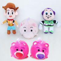 玩具总动员3站姿巴斯光年与牛仔警长胡迪毛绒玩具/草莓熊钱罐猪