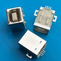 USB B母全贴母座/打印机复印机传真机接口/B型全贴板焊板SMT插座