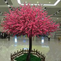 欢迎订购桃花树 跃杰仿真植物 仿真大型椰子树价格