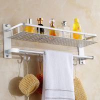 浴室置物架 卫生间毛巾架浴巾架批发 特价太空铝卫浴挂件厂家直销