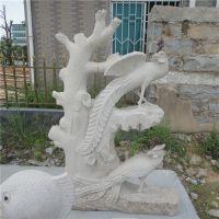 惠安厂家直销石雕凤凰 花岗岩神兽动物雕刻 园林摆件工艺品可定制