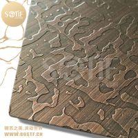湖南酒店别墅装修用古铜色不锈钢板 304不锈钢镀铜板 仿古铜不锈钢板