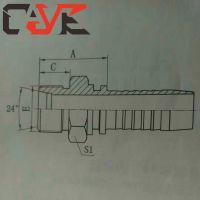 厂家直销304不锈钢、碳钢 公制外螺纹连接24度内锥胶管接头