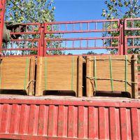 鱼台组合型仿木纹水泥花箱 水泥制件仿木景观花箱价格