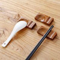 日式木质餐具勺子架家居用品创意两用托筷枕酒店餐厅筷子架