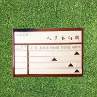 去向牌岗位牌人员去向牌定制作带照片单人可更换指示牌订做