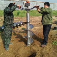新款手提式大棚立柱打坑机 厂家直销便携式植树挖坑机