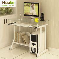 小型简易钢化玻璃电脑桌 台式家用办公桌简约现代迷你书桌小户型