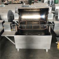 现货供应 不锈钢自动翻转烤全羊烧烤炉子 无烟烤全羊机价格