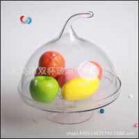 厂家直供 出口欧式 玻璃蛋糕盘 蛋糕罩 人工吹制 电炉生产