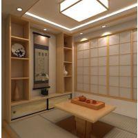 新中式简约木格栅酒店客厅玄关禅意实木条装饰屏风日式活动隔断墙