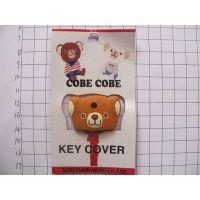 金黄色维尼熊滴胶上色钥匙套礼品,小猪钥匙冒配饰订做