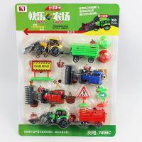 快乐农场玩具车 迷你回力车 工程车 宝宝玩具 汽车模型 7898C
