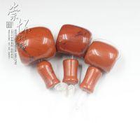 藏式天然红石三通佛头 佛塔 佛珠 念珠 diy饰品配件PK南红玛瑙