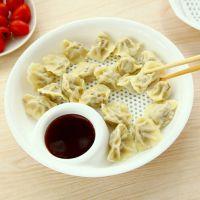 TY 塑料饺子盘 带醋碟 沥水双层盘 吃水饺盘子控水果盘  大号