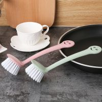 笑脸小麦洗锅刷 长柄清洁刷子创意厨房用刷小刷子锅碗瓢盆清洁锅