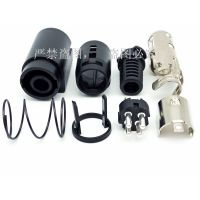 供应POWER DIN 中DIN 4P公八件套组装连接器手电筒、矿灯、电脑主板、显卡设备连接器