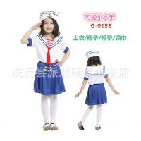 万圣节儿童演出服 面具舞会表演服 G-0158海军服 cos海军制服