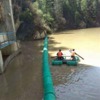 水面拦污浮筒一级水电站拦漂系统设计安装