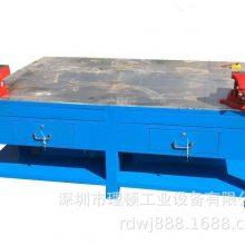 钳工台重型铸铁平台模具维修桌水磨钢板工作台虎钳装配台审模台