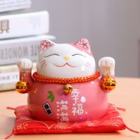 招财猫摆件迷你小号可爱创意礼物存钱罐办公桌家居饰品摆件陶瓷
