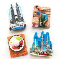 马来西亚双子塔特色旅游纪念品树脂风景景点冰箱贴磁铁磁贴立体磁