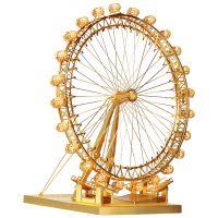 摩天轮3D立体金属模型diy金属拼装拼图创意玩具女生七夕礼物