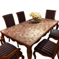 加厚pvc软玻璃磨砂透明茶几桌布防水防烫水晶板餐桌垫台布长方形
