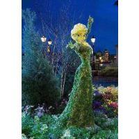 普洱茶香植物雕塑造型 茶艺师立体仿真制作 成都传统文化花园造型厂家