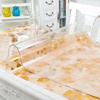 软玻璃PVC桌布防水防烫防油免洗塑料透明餐桌垫茶几胶垫厚水晶板