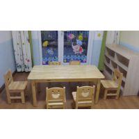 广元/康定幼儿园实木桌椅定做 成都木洛注重细节