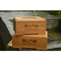 精油logo楠竹餐巾纸盒卷纸木质制盒纸巾盒翻盖竹木盒定做竹木盒子