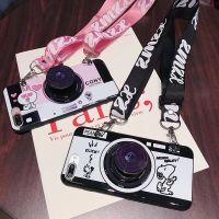 相机苹果x手机壳斜跨挂绳6s支架iphone7plus潮牌8x硅胶个性创意女